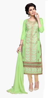 Dilwaa Cotton Polyester Blend Self Design, Embroidered Salwar Suit Dupatta Material Un-stitched