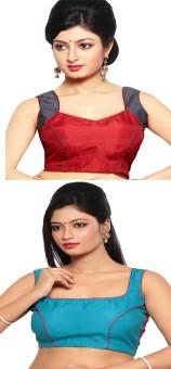 Pratami Cotton Silk Blend Solid Blouse Material Unstitched
