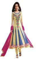 Rati Fashions Net Solid Semi-stitched Salwar Suit Dupatta Material Fabric Unstitched