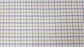 Nirvan Cotton Polyester Blend, Linen Checkered Shirt Fabric