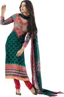 Indiweaves Cotton Printed Semistitched Salwar Suit Dupatta Material