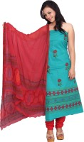ChhipaPrints Cotton Printed Suit Fabric - Unstitched - FABDYRCWSZGWEPTP