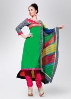 Span Cotton, Silk, Chiffon Fabric Unstitched