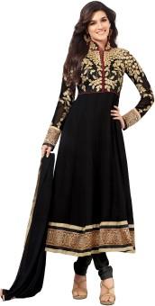 Riti Riwaz Georgette Solid, Self Design Semi-stitched Salwar Suit Dupatta Material (Unstitched)