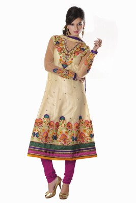 Parvati Fabrics Net Floral Print Dress/Top Material Unstitched