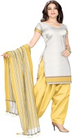 Platinum Cotton Striped Dress/Top Material - Unstitched