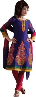 Vineberi Cotton Self Design Dress/Top Material - Unstitched