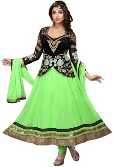 Paheli Georgette Self Design Semistitched Salwar Suit Dupatta Material