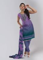 Shah Fabrics Jacquard Printed Fabric Unstitched