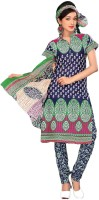 Vineberi Cotton Printed Dress/Top Material Fabric - Unstitched