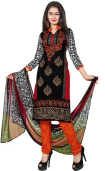 The Fashion World Crepe Printed Semi-stitched Salwar Suit Dupatta Material Semi-stitched