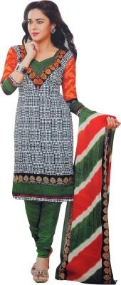 Gitanjali Gitanjali Cotton Printed Salwar Suit Dupatta Material (Multicolor)