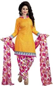 Fabliva Crepe Embroidered Salwar Suit Dupatta Material