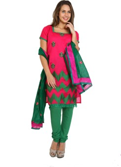 Satrang Brocade, Art Silk, Organza Solid Salwar Suit Dupatta Material Un-stitched