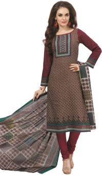 Design Willa Cotton Printed Salwar Suit Dupatta Material Un-stitched - FABEGEY8A8YW2RTQ