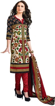 Jevi Prints Cotton Printed Salwar Suit Dupatta Material Un-stitched - FABE5C2KSN9S4RWV