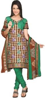 Minu Suits Cotton Printed Salwar Suit Dupatta Material Unstitched