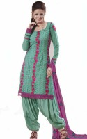 Mehak Georgette Printed Semi-stitched Salwar Material Fabric Unstitched