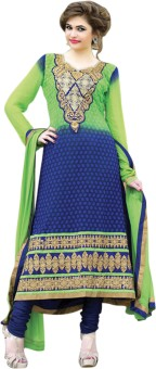 Saara Georgette Geometric Print Salwar Suit Dupatta Material (Unstitched) - FABEYHSFZRKVMSFP