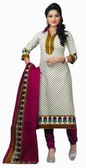 Yauvanam Fashions Cotton Printed Salwar Suit Dupatta Material Un-stitched