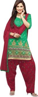 Dazzling Array Silk Printed Semi-stitched Salwar Suit Dupatta Material Unstitched