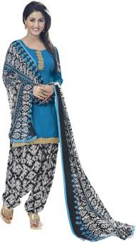 Vastrangam Satin, Cotton Printed Semi-stitched Salwar Suit Dupatta Material Semi-stitched