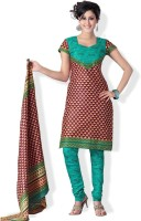 Cotton Bazaar Silk Printed Dress/Top Material Fabric Unstitched