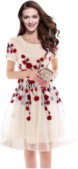 Vihana Georgette Solid, Embroidered Kurti Fabric Un-stitched