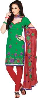 Fabdeal Cotton Floral Print Salwar Suit Dupatta Material Unstitched