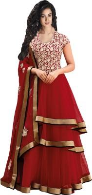 Buy Indiweaves Net Self Design Salwar Suit Dupatta Material: Fabric