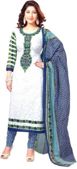 RockChin Fashions Cotton Polyester Blend Printed Salwar Suit Dupatta Material Cotton Polyester Blend Printed Salwar Suit Dupatta Material Unstitched