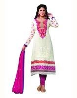 Aanara Georgette Floral Print Semi-stitched Salwar Suit Dupatta Material Fabric - Unstitched - FABDVV4NRCBZFTPP