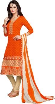 Suchi Fashion Jacquard Embroidered Salwar Suit Dupatta Material Unstitched - FABE9FUPBZTPYWRF