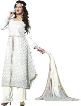 Z HOT FASHION Georgette Embroidered Salwar Suit Dupatta Material Un-stitched - FABEB32CCCHC8TSU