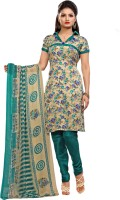 Zohraa Cotton Printed Semi-stitched Salwar Suit Dupatta Material - Unstitched - FABDZEY7BV5YUTSU