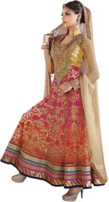 Kimana Net Self Design Semi stitched Salwar Suit Dupatta Material available at Flipkart for Rs.4650