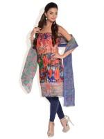 Shah Wah Cotton Floral Print Salwar Suit Dupatta Material Fabric - Unstitched