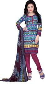 Fabliva Crepe Printed Salwar Suit Dupatta Material