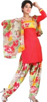 Fashionic Synthetic Printed Salwar Material Fabric Unstitched
