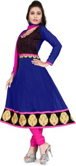 Blissta Georgette Embroidered, Self Design Dress/Top Material Un-stitched - FABE773YE2YC2UGM