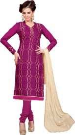 Shonaya Silk Embroidered Salwar Suit Dupatta Material