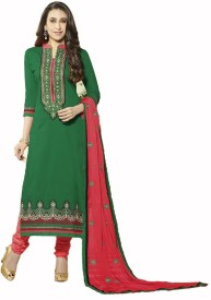 Mamtafashions Cotton Embroidered Salwar Suit Dupatta Material
