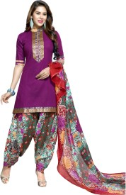 KANNAN Cotton Self Design Salwar Suit Dupatta Material