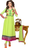 Prafful Georgette Floral Print Semi-stitched Salwar Suit Dupatta Material Fabric - Unstitched