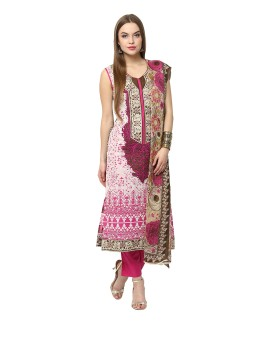 Yepme Cotton Polyester Blend Embroidered Semi-stitched Salwar Suit Dupatta Material Semi-stitched