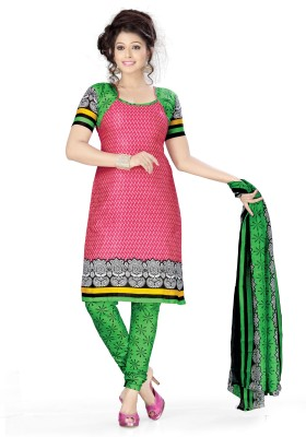 Vaamsi Cotton Printed Dress/Top Material Unstitched