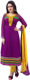 Jiya Georgette Self Design, Embroidered Salwar Suit Dupatta Material