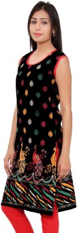 Kurti Studio Cotton Floral Print Dress/Top Material Un-stitched