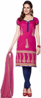 Fashion On Sky Cotton Printed Salwar Suit Dupatta Material (Unstitched)