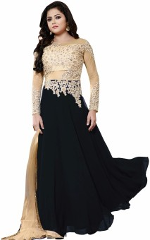 KalaFashion Georgette, Net Embroidered Semi-stitched Salwar Suit Dupatta Material